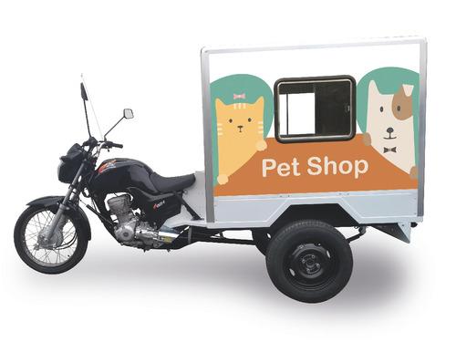 triciclo carga baú pet shop 160cc 0km 2019 300kg c/ adesivo