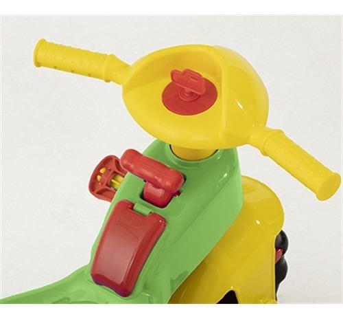 triciclo carrinho de passeio empurrador infantil vermelho