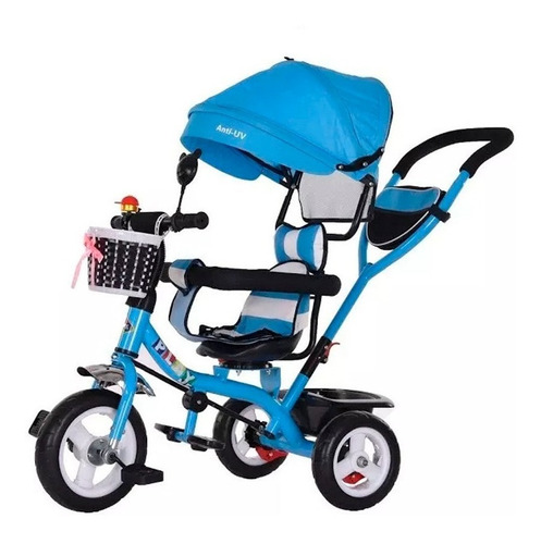 triciclo coche paseo niño niña con volante para bebé - mweb