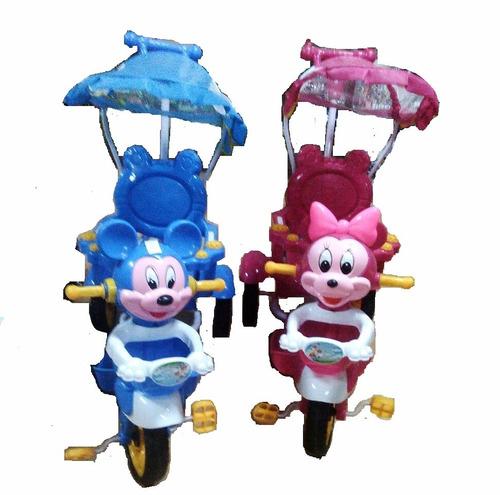 triciclo con capota y barra direccional