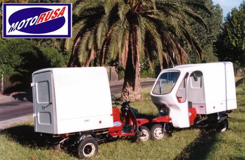 triciclo de carga muravey 200cc con cupula, caja cerrada