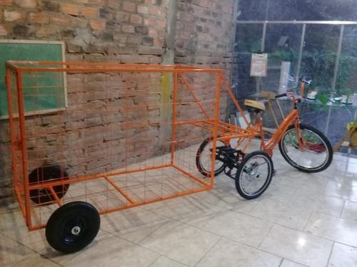 triciclo de carga/coleta/reciclagem
