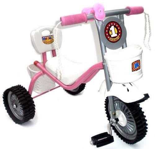 triciclo de metal reforzado con ruedas de goma infantil