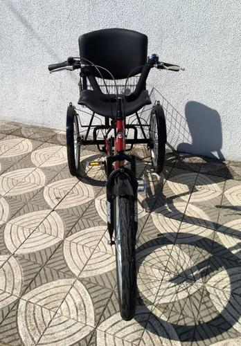 triciclo deluxe c/ cadeira almofadada e paralamas wind bikes