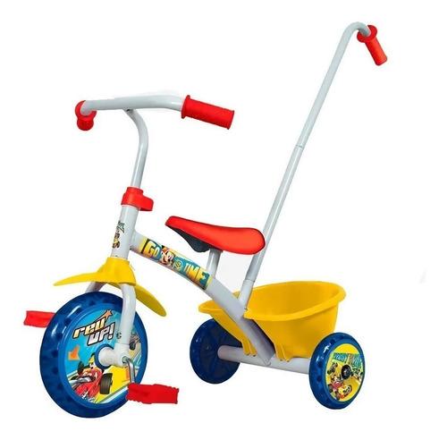 triciclo disney mickey minnie reforzado metalico barral prom
