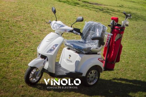 triciclo eléctrico con soporte  de golf -  viñolo  /e
