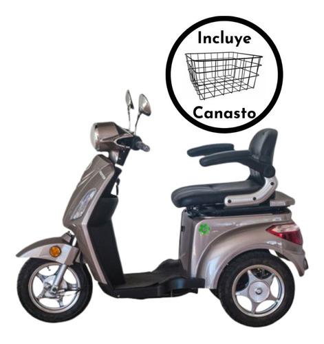triciclo eléctrico master 25 km/h canasta incluida + envío
