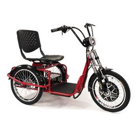 Triciclo Elétrico 800w Com Ré Farol E Alarme Fox Vermelho