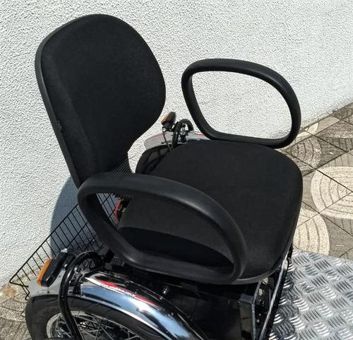 triciclo elétrico advanced 700 w 36 v 24ah c/ seta e roda 14