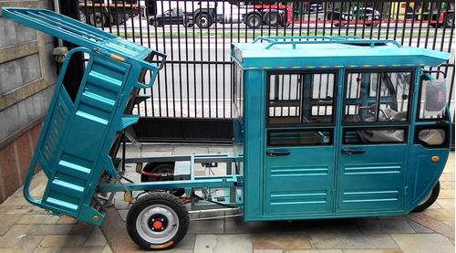 triciclo eletrico cabine dupla para condominios