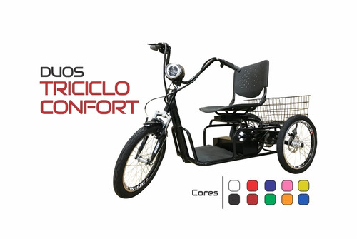 triciclo elétrico confort