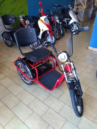 triciclo eletrico duos com ré 800w baterias de 15 amperes