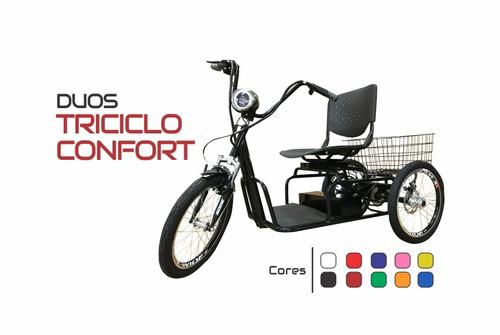 triciclo elétrico fox confort 800 w com marcha ré