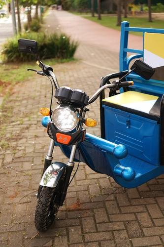 triciclo elétrico super cargo (suporta 500kg)