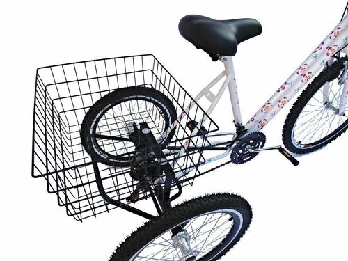 triciclo floral aro 26 - 21 marchas - montagem hiper