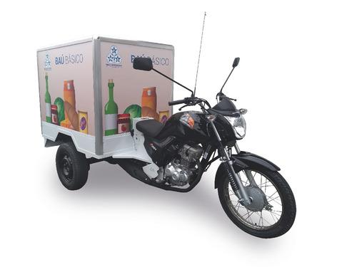 triciclo fusco-motosegura  baú básico 160cc 2018/2019 300kg
