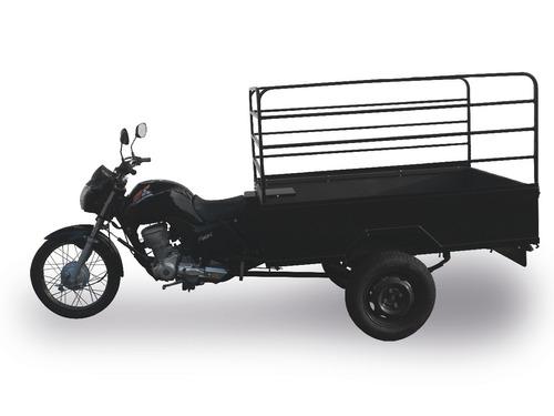 triciclo fusco motosegura caçamba aço grade alta 300kg