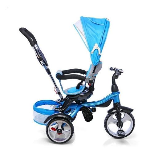 triciclo infantil bebe asiento gira 360 manija canasto bolso