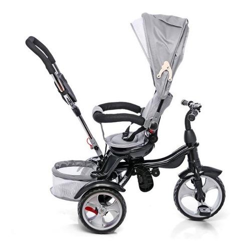 triciclo infantil bebe asiento gira 360 manija canasto capot