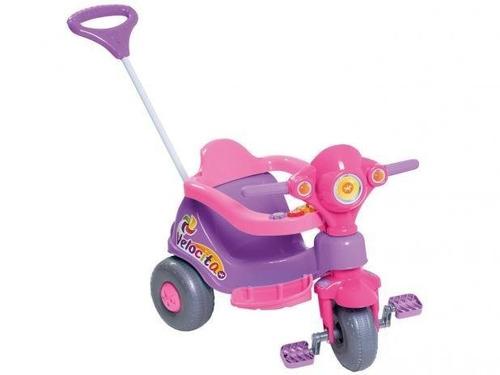 triciclo infantil calesita com empurador velocita
