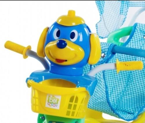 triciclo infantil c/capota 3x1 música luzes e pedalar!!