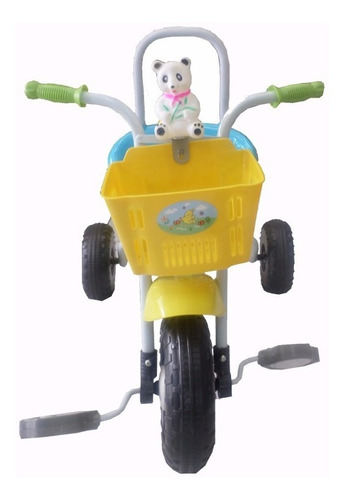 triciclo infantil con  canasta