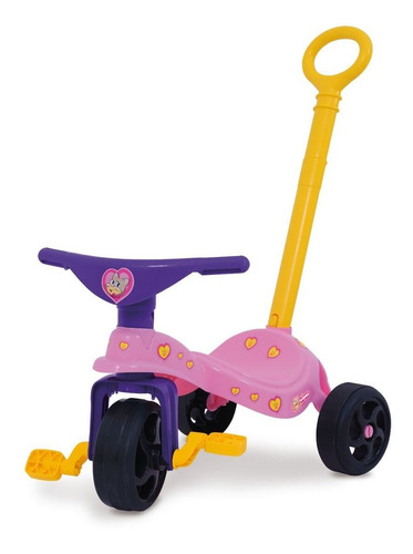 triciclo infantil gatita c/ manija