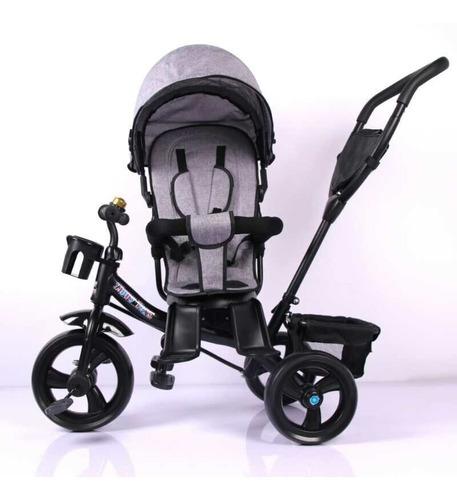 triciclo infantil manija direccional capota gira 360° tzt54