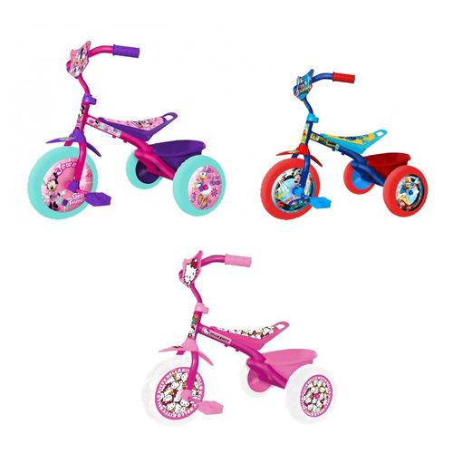 triciclo infantil mid metalico +2 años mickey minnie hellok