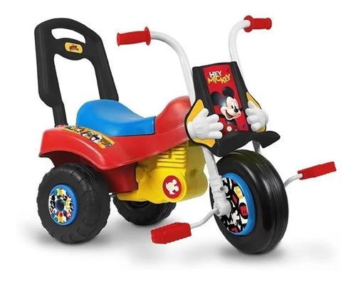 triciclo infantil moto z mickey minnie disney caminador