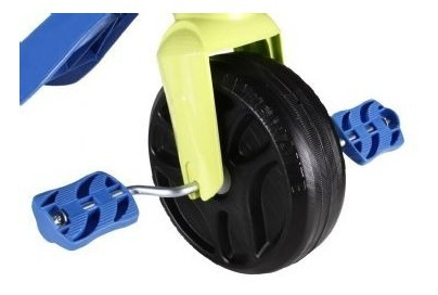 triciclo kid cross azul - bandeirantes