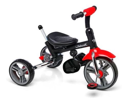 triciclo little tiger deluxe acero super reforzado plegable