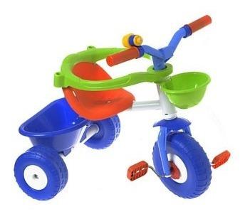 triciclo metal blue o metal pink con barral y aro protector