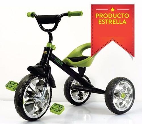 triciclo metalico reforzado rueda goma cromada - childrens