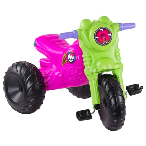 triciclo montable monster juguete infantíl cómodo divertido