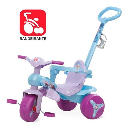 triciclo motoca infantil carrinho bebê passeio da frozen