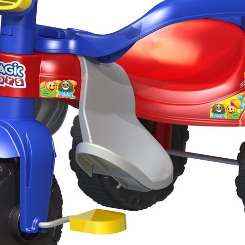 triciclo motoca infantil tico tico velotrol magic toys azul