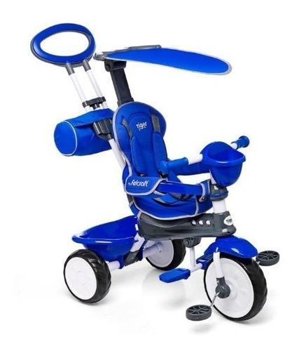 triciclo nuevo barral c/ capota desmontable solo en azul