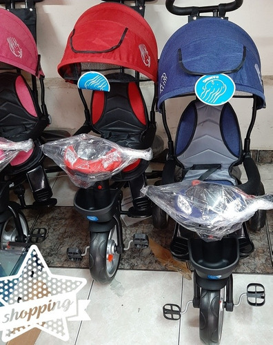 triciclo para bebe/niño con frenos,asiento giratorio 360°