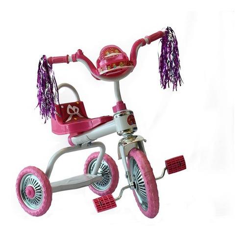 triciclo para niña sencillo 3 llantas macilux rosa