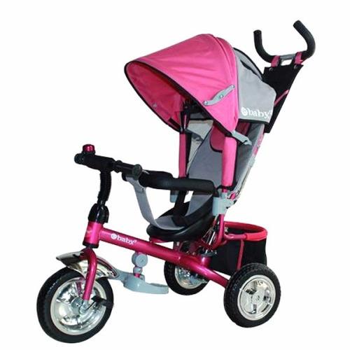 triciclo para niñas color rosado marca ebaby