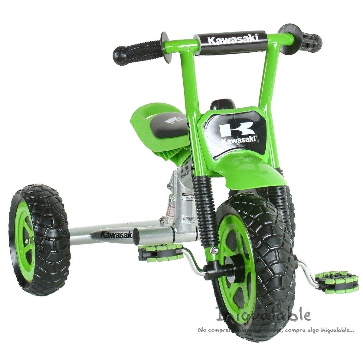 Triciclo para ni os kawasaki verde 3 en mercado for Agarraderas para ninos