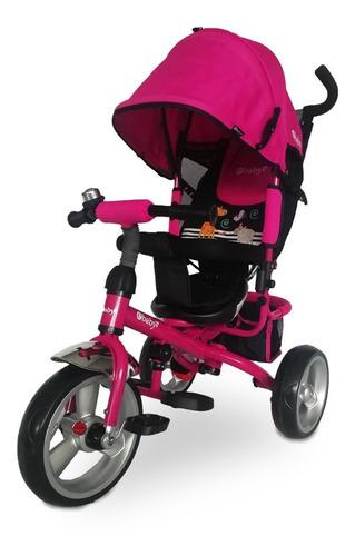triciclo paseador de espaldar reclinable  ebaby 307
