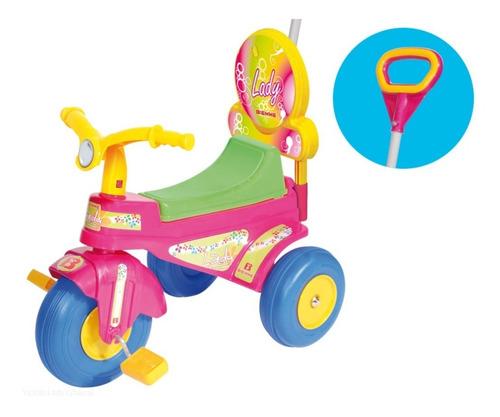 triciclo plastico con barral lady biemme 1 a 3 años