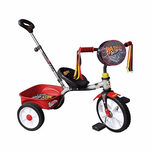 triciclo r12 apache racing + casco + envio gratis.