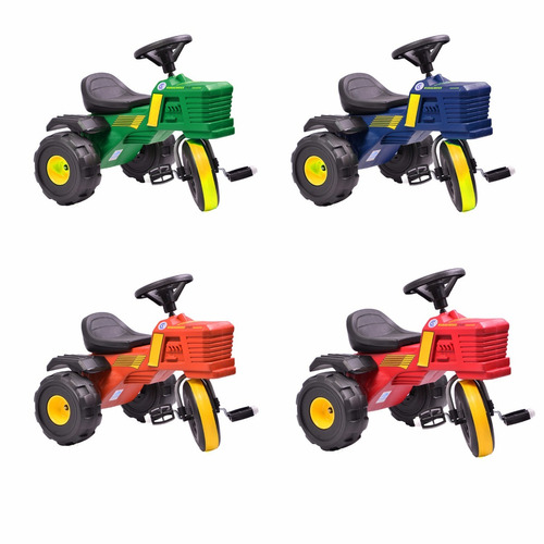 triciclo rodacross tractor a pedal 2 a 4 años