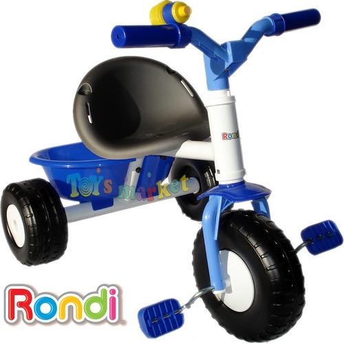 triciclo rondi de paseo con embrague blue o pink metal