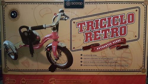 triciclo scoop retro solo azul fotos 100% reales
