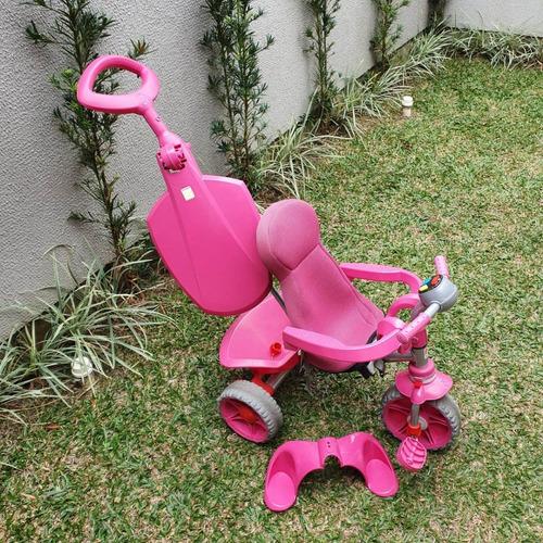 triciclo smart confort bandeirantes rosa