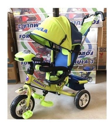 triciclo sombrilla cinturón canasta nuevo